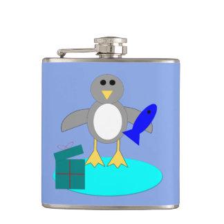 Cantil Feliz Natal que pesca a garrafa do pinguim