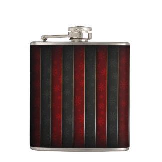 Cantil Feriado do Natal - vermelho/preto com flocos de