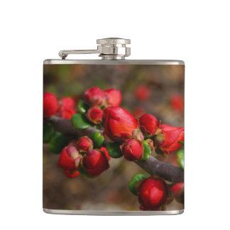 Cantil Flores vermelhas arborizados
