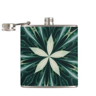 Cantil Folhas do branco em um caleidoscópio verde da