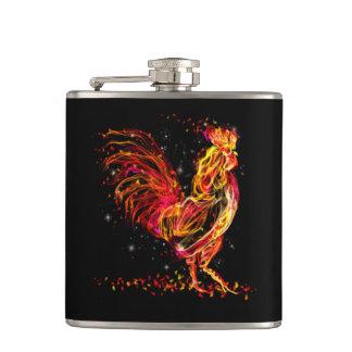 Cantil Galo do fogo. Design legal da faísca animal