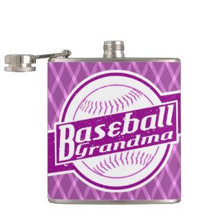Cantil Garrafa anca de aço inoxidável da avó do basebol