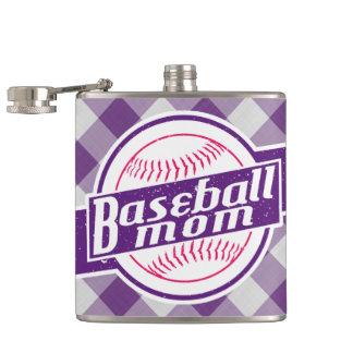 Cantil Garrafa anca de aço inoxidável da mamã do basebol