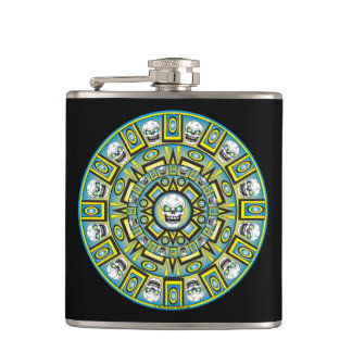 Cantil Garrafa asteca do vinil do design do calendário do