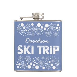 Cantil Garrafa azul da viagem do esqui do floco de neve