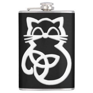 Cantil Garrafa celta do gato do nó branco da trindade
