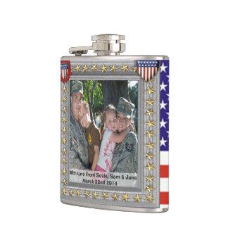 Cantil garrafa customizável do veterano patriótico