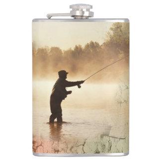Cantil Garrafa da pesca do alvorecer