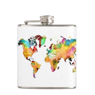 Cantil garrafa do mapa do mundo