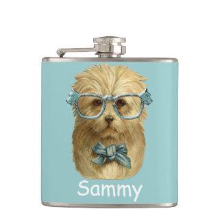 Cantil garrafa engraçada do hipster do cão