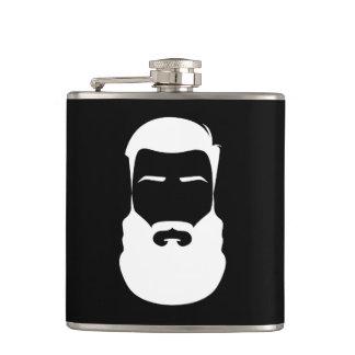 Cantil Garrafa envolvida vinil da barba branca