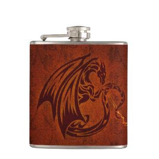 Cantil Garrafa envolvida vinil do dragão