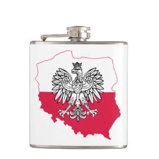 Cantil Garrafa polonesa da bandeira do mapa