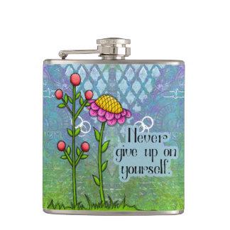 Cantil Garrafa positiva adorável da flor do Doodle do