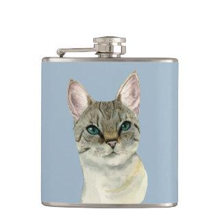 Cantil Gato de gato malhado com a aguarela bonito dos