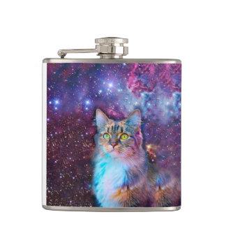 Cantil Gato orgulhoso com fundo do espaço