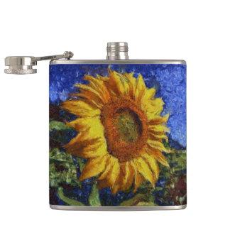 Cantil Girassol no estilo de Van Gogh