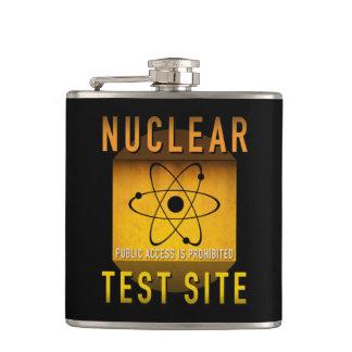 Cantil Grunge retro da idade atômica de local de prova