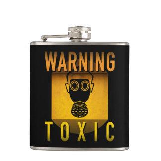 Cantil Grunge retro de advertência tóxico da idade