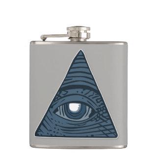 Cantil Illuminati todo o símbolo de vista da pirâmide do