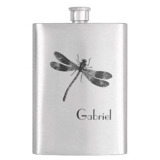 Cantil Ilustração da libélula do vintage com monograma