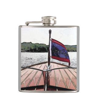 Cantil Impressão de mogno clássico do barco na garrafa