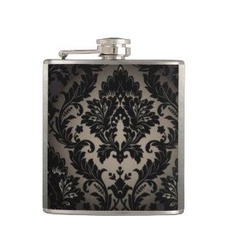 Cantil Impressão preto & cinzento da cor damasco