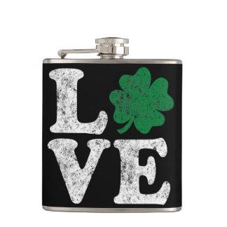 Cantil Irlandês do trevo do AMOR do Dia de São Patrício