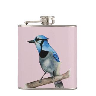 Cantil Jay azul na pintura da aguarela do ramo