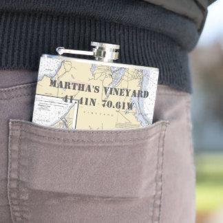 Cantil Longitude da latitude do Martha's Vineyard náutica
