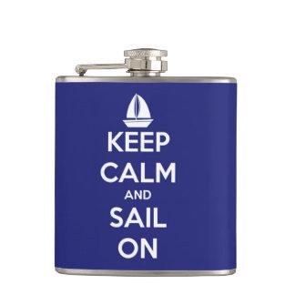 Cantil Mantenha a calma e navegue no azul personalizado