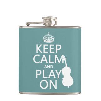 Cantil Mantenha a calma e o jogo em (o contrabaixo)