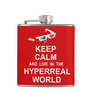 Cantil Mantenha a calma e viva no mundo hyperreal
