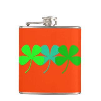 Cantil Matiz verdes alaranjadas quatro trevos 4Ann-Marie