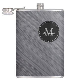 Cantil Metálico cinzento na moda do monograma  