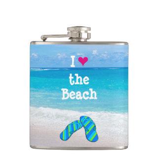 Cantil Mim coração (amor) os chinelos da praia na areia