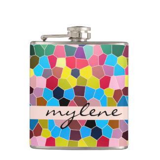 Cantil Mosaico vívido dos doces do arco-íris do vitral ab