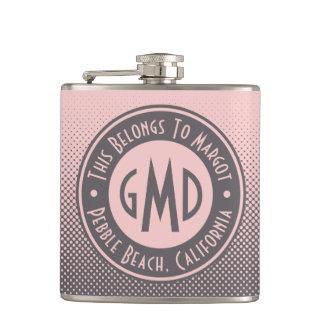 Cantil Na moda cinzento cor-de-rosa milenar do monograma