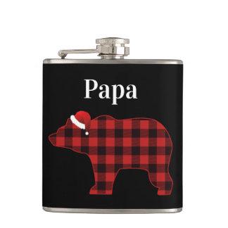 Cantil Natal bonito da xadrez do búfalo do urso da papá