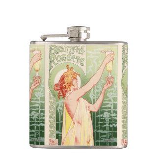 Cantil O absinto Robette - poster vintage do álcool