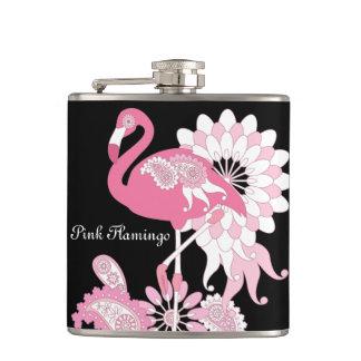 Cantil O flamingo cor-de-rosa feminino refrigera o preto