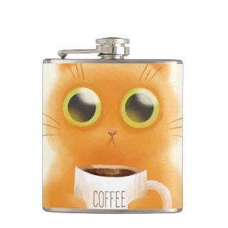 Cantil O gatinho bonito pintado mão com café coloca