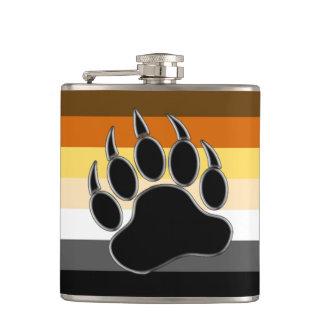 Cantil O orgulho do urso colore a pata preta de prata