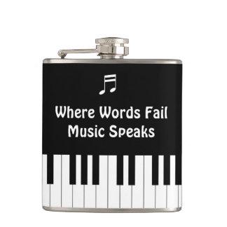 Cantil Onde as palavras falham, a música fala a garrafa