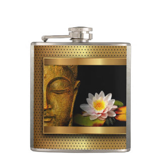 Cantil Ouro Buddha com flor de Lotus