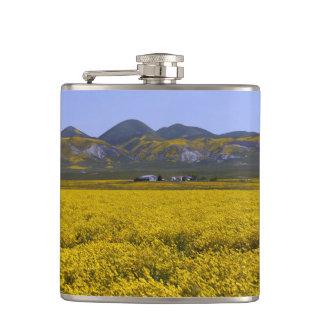 Cantil Paisagem amarela do campo do Wildflower