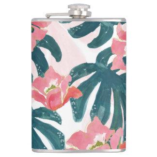 Cantil Palma tropical da aguarela, Hibiskus havaiano