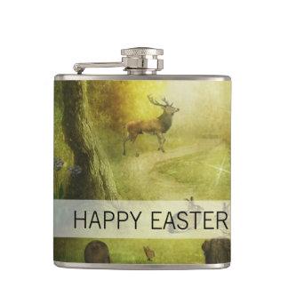 Cantil Páscoa bonita da cena da floresta do coelho do