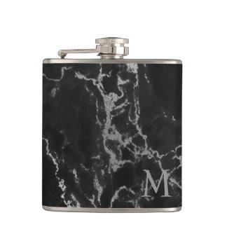 Cantil Pedra de mármore preta e cinzenta Monogrammed