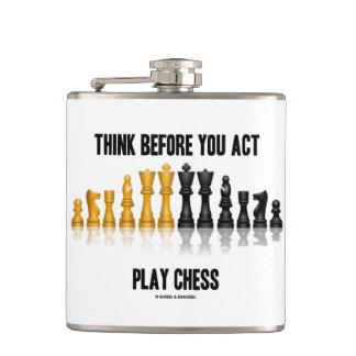 Cantil Pense antes que você xadrez reflexiva da xadrez do